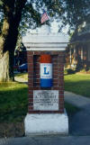 Two brick pillars grace the entrance to a subdivision in Crestline. On opposite sides of Clink Boulevard, the Bement Marker and McMahon Marker were originally dedicated in 1922, and were restored by LHA's Mid-Ohio Chapter with new signs in 1993.