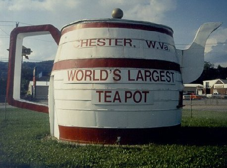 W Chester Bypass ... West Virginia in 1928, and 3 of the 8 concrete posts set here can